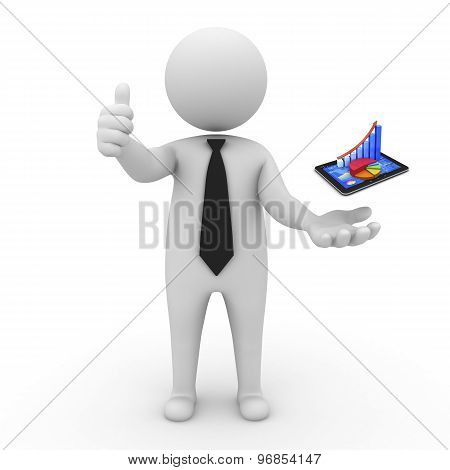 3d businessman people - Innovative technologies and business development