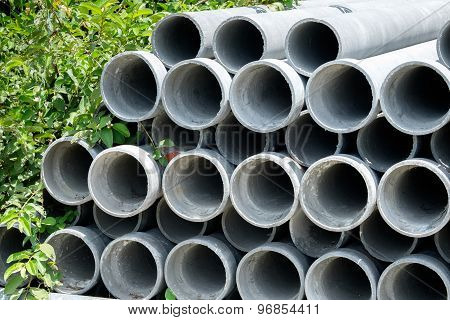 Arrange Cement Pipe