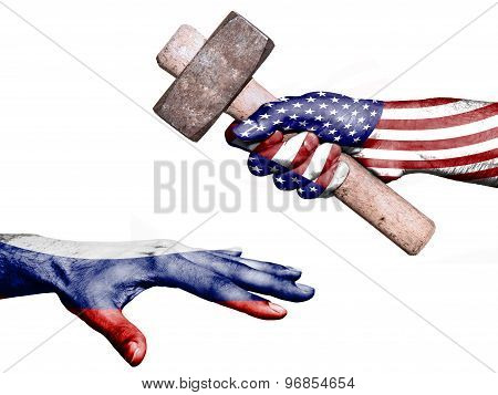 United States Hitting Russia With A Heavy Hammer