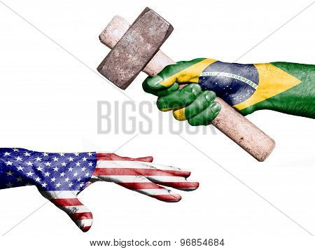 Brazil Hitting United States With A Heavy Hammer