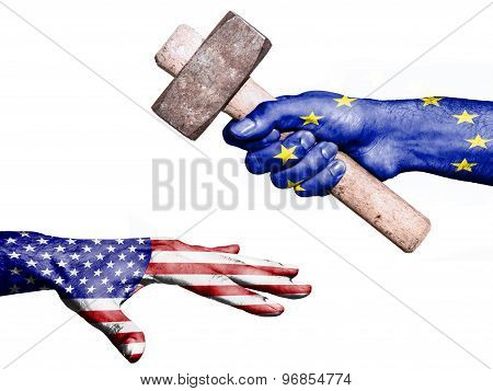 European Union Hitting United States With A Heavy Hammer