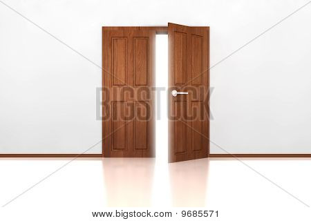 Double Door Half Open