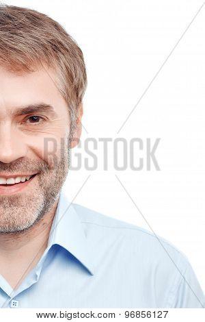 Pleasant man smiling