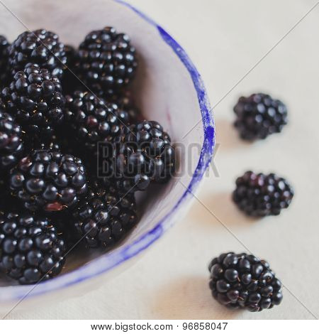 A fragrant blackberries