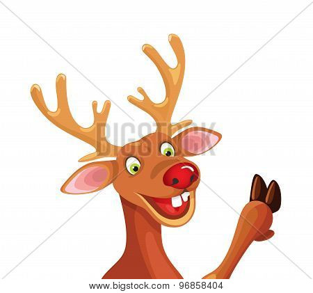 Rudolph Happy Christmas Reindeer