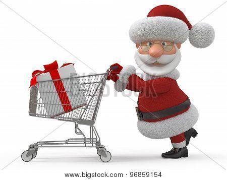 3D Santa Claus In Shop