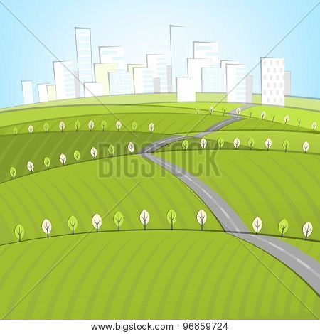 01 Eco Roads City landscape