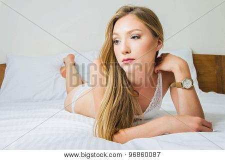 Sexy girl on bed