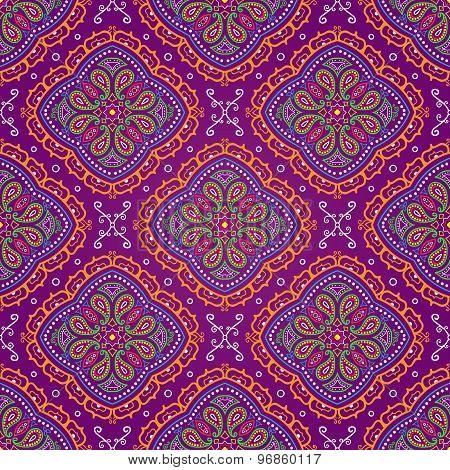 Purple Paisley Background