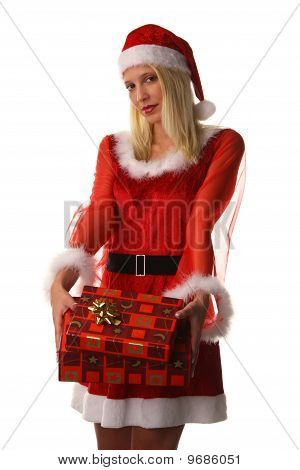 Woman As Santa Claus