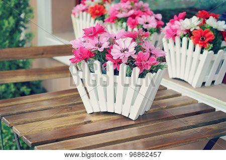 Artificial Flowers Pot
