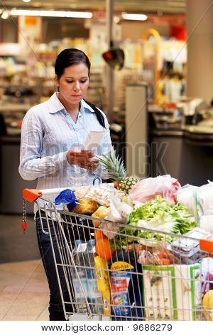 Mrs. Controlled Slip At The Supermarket
