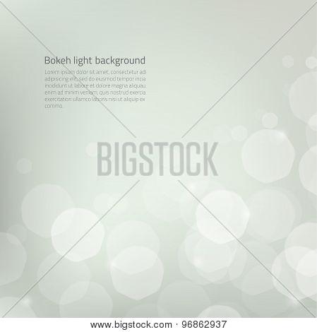 Vector Background Silver Bokeh
