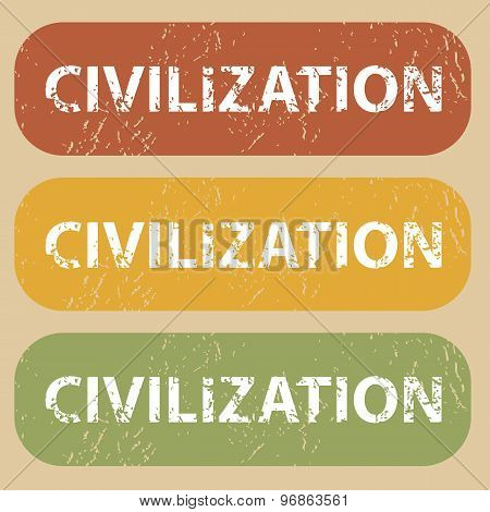 Vintage CIVILIZATION stamp set