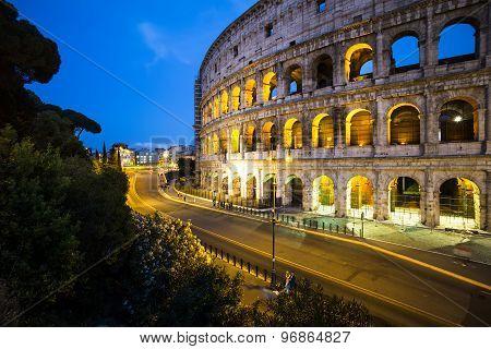 Beautiful Evening Coliseum, Rome, Italy