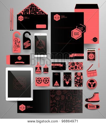 Abstract polygonal business set