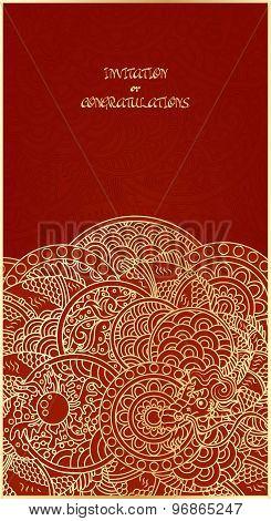 Golden Dragon Vertical Card