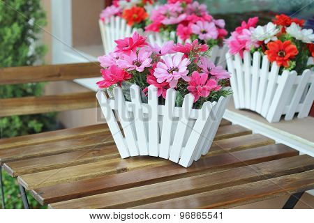 Artificial Flowers Pot