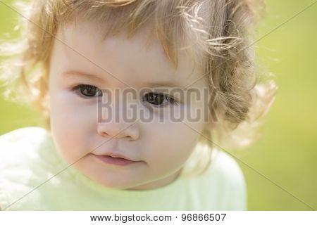 Portrait Of Curious Child