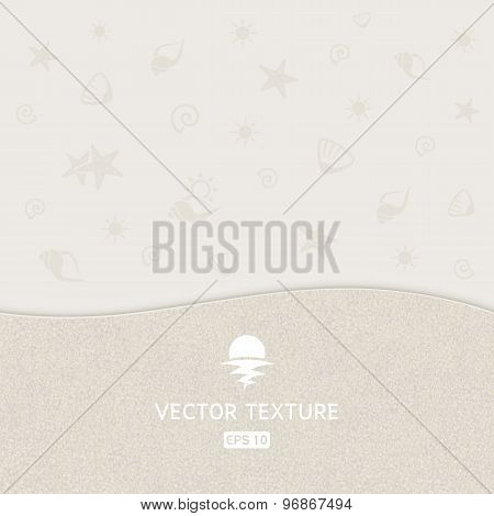 Sand Texture With Shell Background