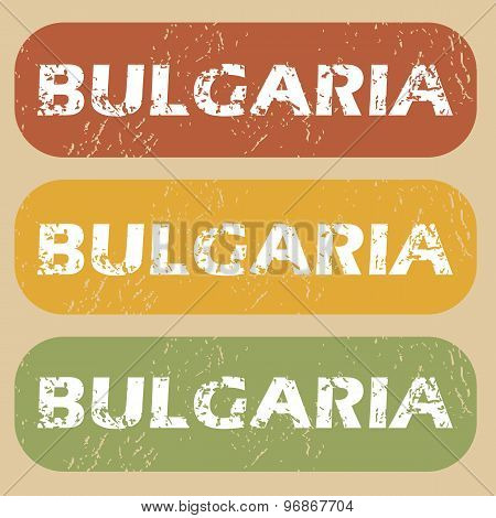 Vintage Bulgaria stamp set