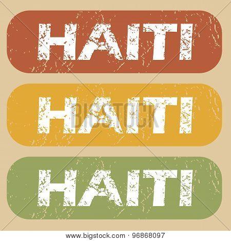 Vintage Haiti stamp set