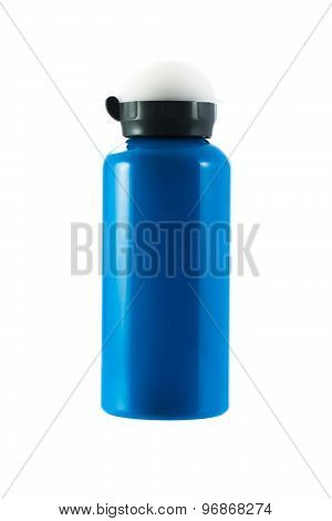 Blue Tumbler Isolated On White Background