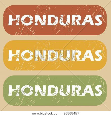 Vintage Honduras stamp set
