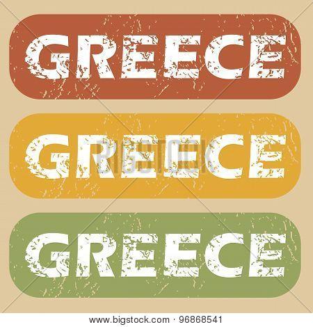 Vintage Greece stamp set