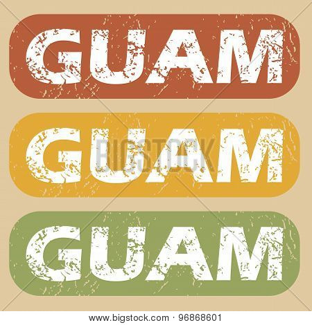 Vintage Guam stamp set