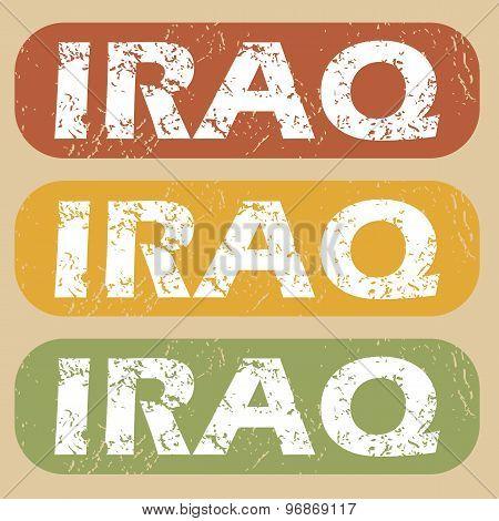 Vintage Iraq stamp set