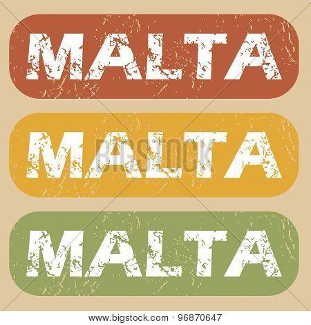 Vintage Malta stamp set