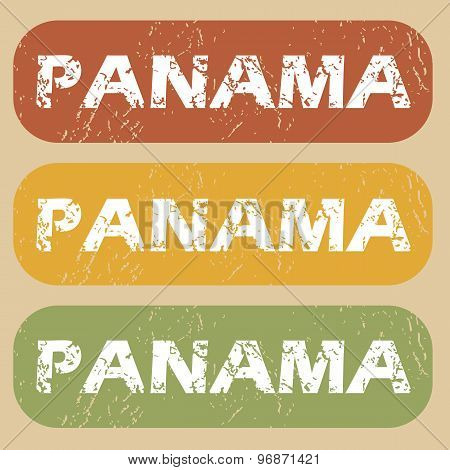 Vintage Panama stamp set