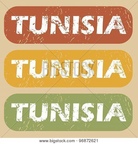 Vintage Tunisia stamp set