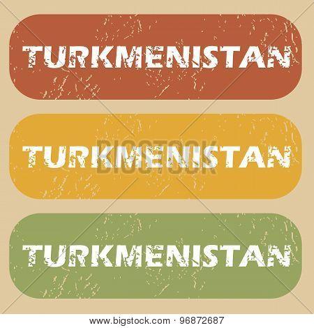 Vintage Turkmenistan stamp set