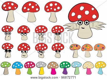 Clipart of fly agarics