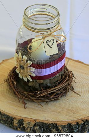 Pretty little wedding centerpieces