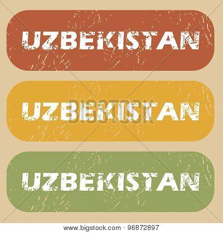 Vintage Uzbekistan stamp set