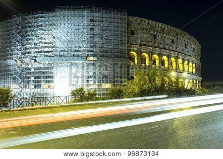 Wonderful Evening Coliseum, Rome, Italy