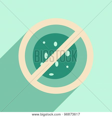 Flat with shadow icon and mobile application germs