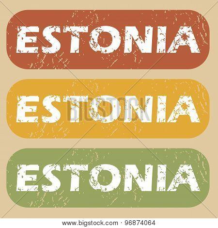 Vintage Estonia stamp set
