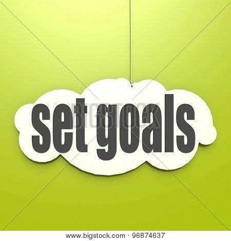 White Cloud With Set Goals