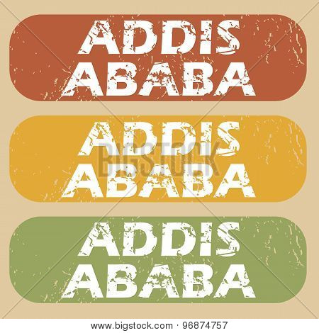 Vintage Addis Ababa stamp set