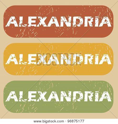 Vintage Alexandria stamp set