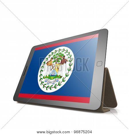 Tablet With Belize Flag
