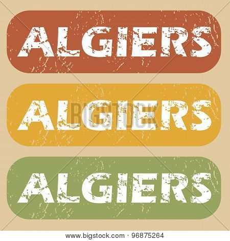 Vintage Algiers stamp set