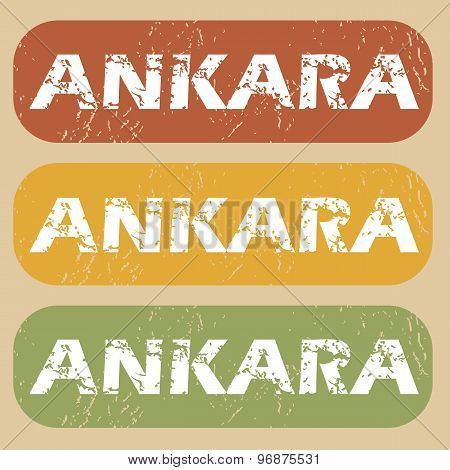 Vintage Ankara stamp set