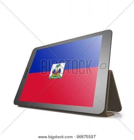 Tablet With Haiti Flag