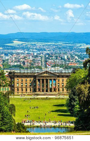 Cityscape with Castle in Kassel, Germany