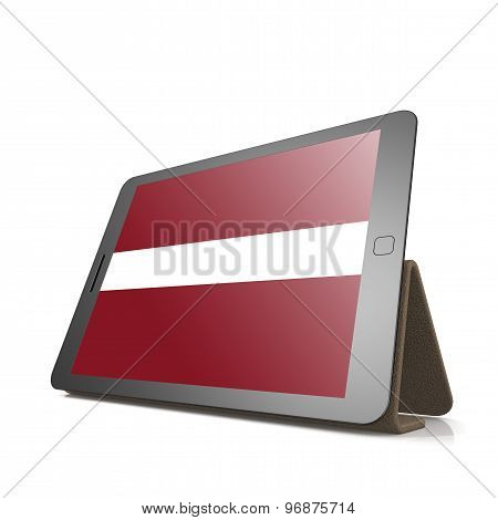 Tablet With Latvia Flag